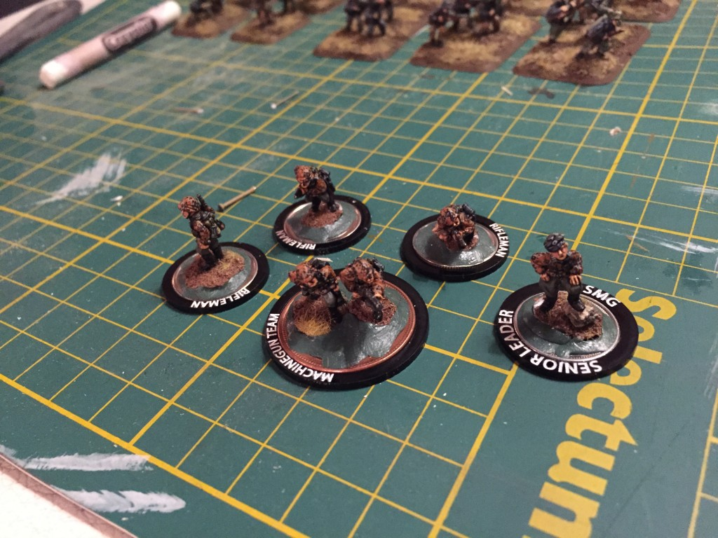 Rings to identify 15mm miniatures.