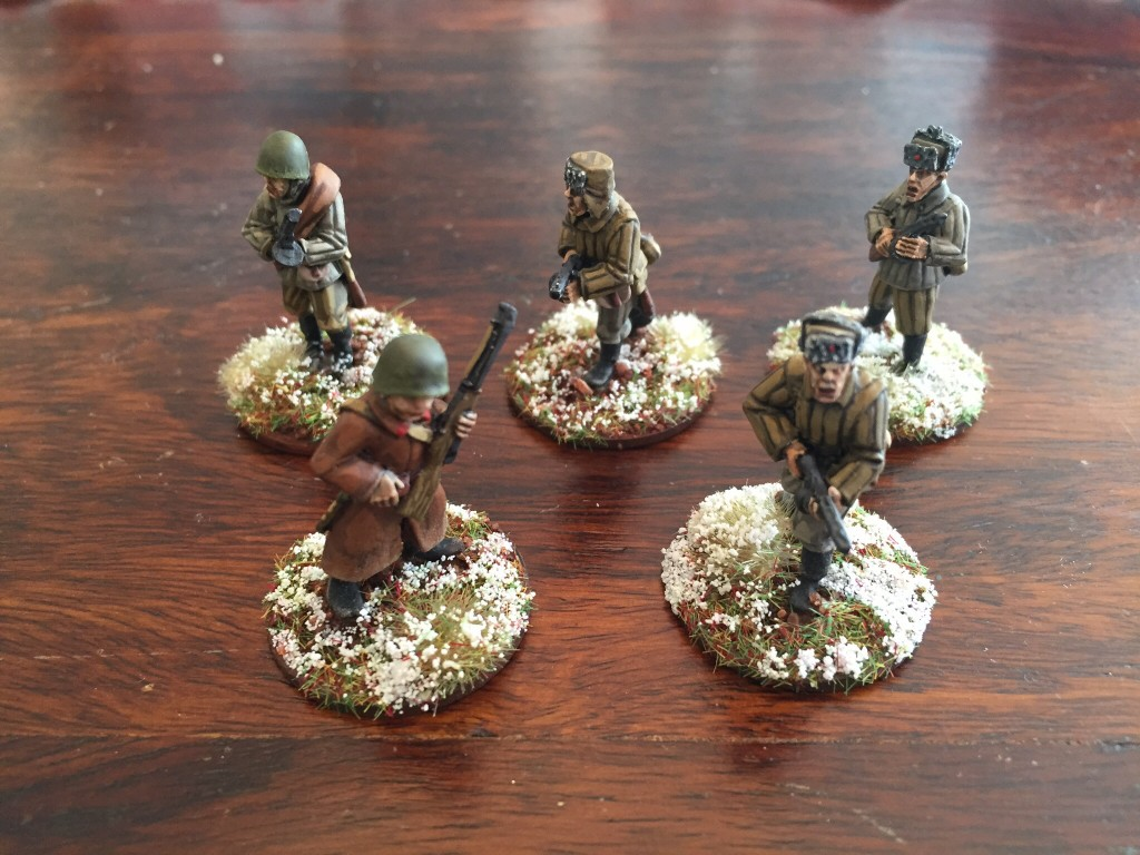 Soviets with snow bases.